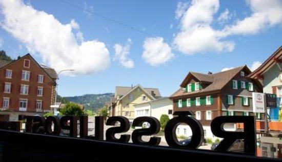 Hotel Landgasthof Rosslipost: Blick Richtung Oberiberg