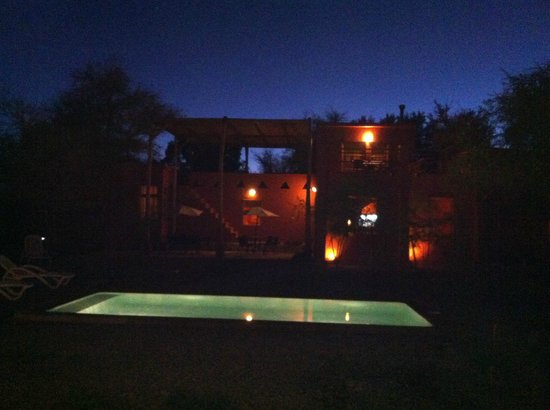 Casa Solcor Boutique Bed &Breakfast: Interior courtyard and pool under the stars