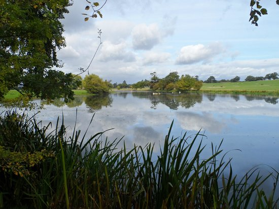 Croome: One of Capability Brown's many water creations looking towards the Court