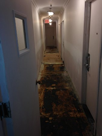 Hotel Alexander: the hallway of the first floor i stayed on!