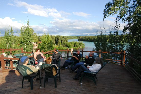 Great Alaska Adventures: Relaxing on the deck after the wedding