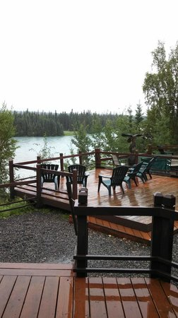 Great Alaska Adventures: Deck overlooking the Kenai and Moose Rivers