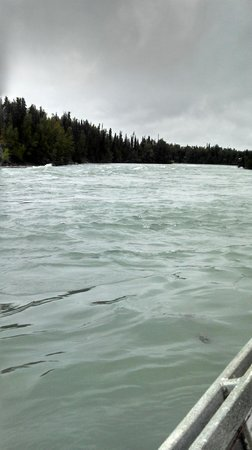 Great Alaska Adventures: Rapids just up river from the lodge