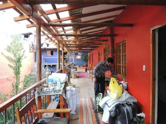 Casa Panqarani: Varanda