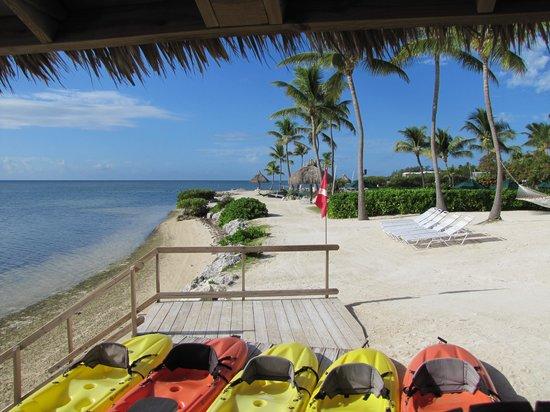 Chesapeake Beach Resort: kayaks along the beach of the resort
