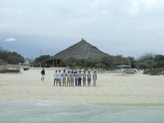 Anakao Ocean Lodge: Arrivo..lo staff