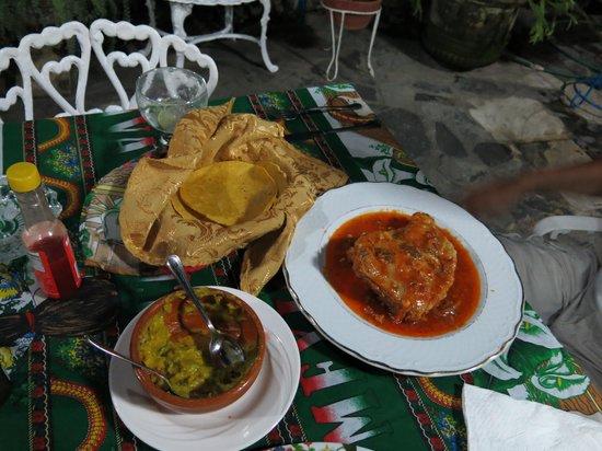 Mi Jardin : jalapeno chicken and homemade tortilla