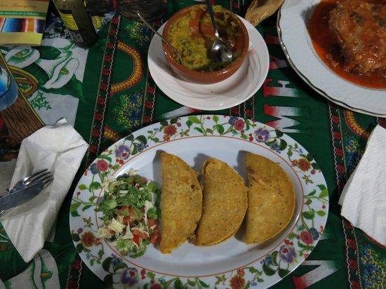 Mi Jardin : chicken with softshell tortilla