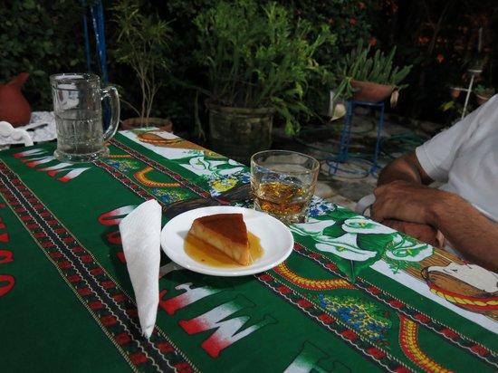 Mi Jardin : great flan and great rum