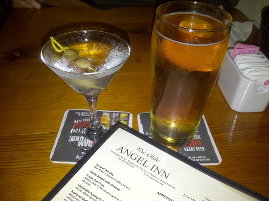 The Olde Angel Inn : The Angel Inn Lager is stepping out with Ms. Martini!