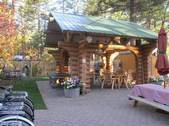 Fireside Lodge Bed and Breakfast : Outside areas & bikes.