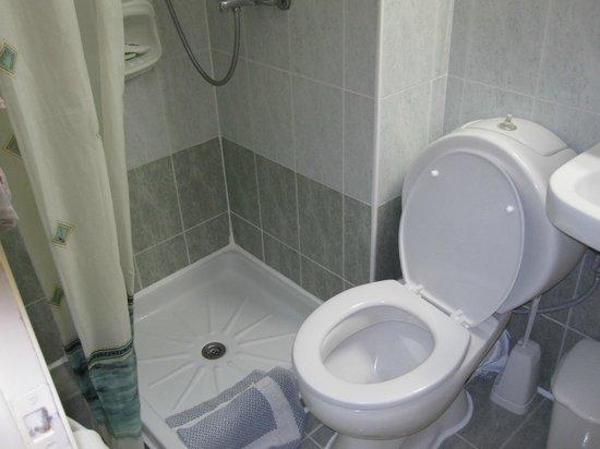 Golden Beach Hotel: room 2 tiny shower