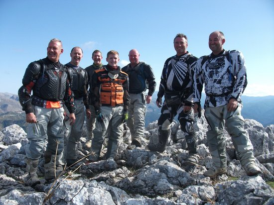 Riders of the Lost Trail - Guided Off Road Motorcycle Trail Tours : Northumbria TRF on tour