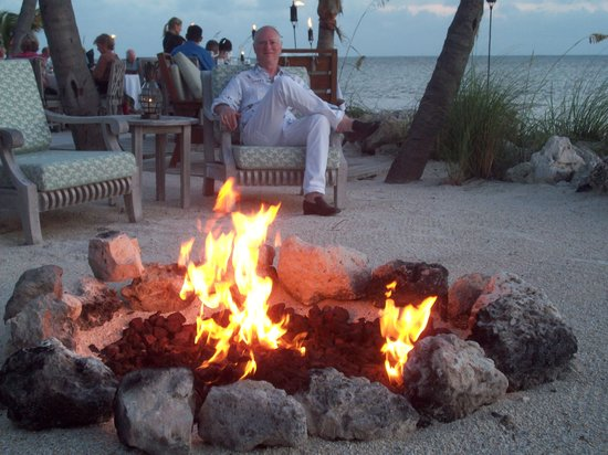 Little Palm Island Resort & Spa, A Noble House Resort : Firepit by the dining beach