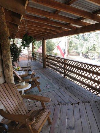Evergreen Haus: deck