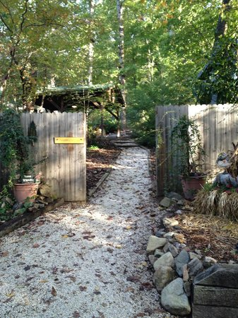 Arbor Cabins at Lake Lure: Walkway to cabins