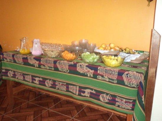 Tunupa Lodge : le buffet du petit-déjeuner