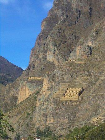 Tunupa Lodge : vue sur les ruines de Pinkuylluna depuis l'hotel