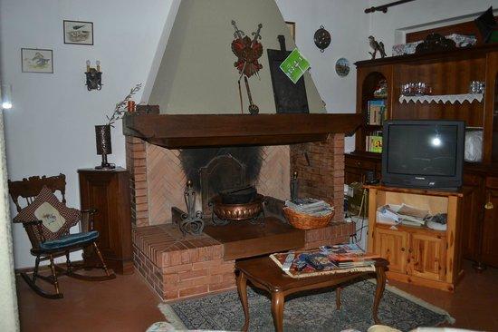 Bed & Breakfast Villa I Ciliegi: Salotto con camino