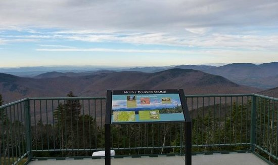 Mount Equinox: Outside the visitor center; view & info