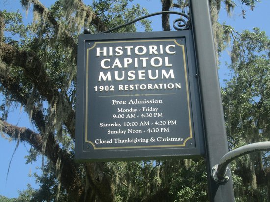 Florida Historic Capitol Museum: museum sign