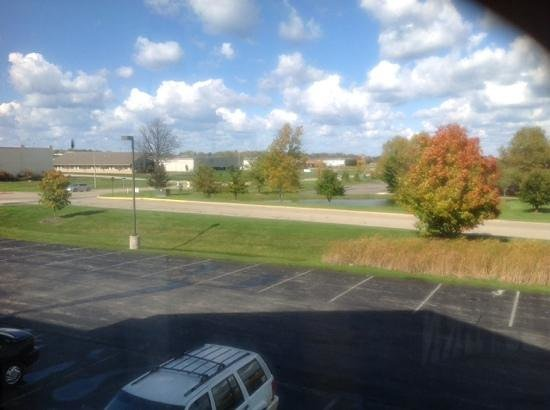Holiday Inn Express South Haven: plain view from second floor