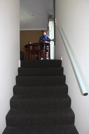 Burnett Riverside Motel : Steps into the room.