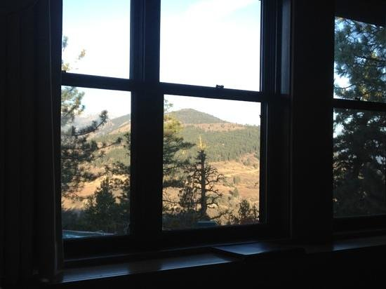 Sun Mountain Lodge: view from my bed.