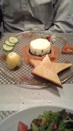 La Pignatelle : egg souffled with spinace