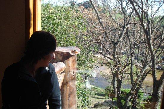 Villa Icho Cruz, Αργεντινή: Vista al río desde el deayunador