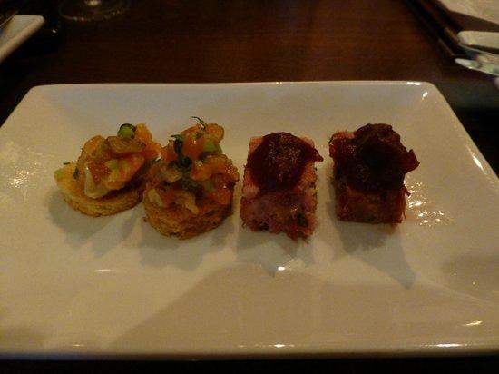 Sante Wine Bar and Restaurant: Amuse bouche at Hogmanay.