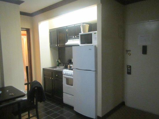 Radio City Apartments: Kitchen area