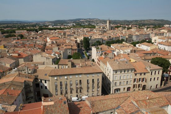 Donjon Gilles Aycelin : View over Narbonne from the top of the Donjon