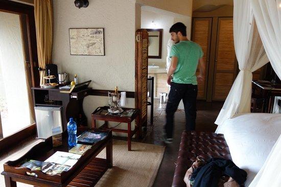 Jock Safari Lodge: Chegando no quarto