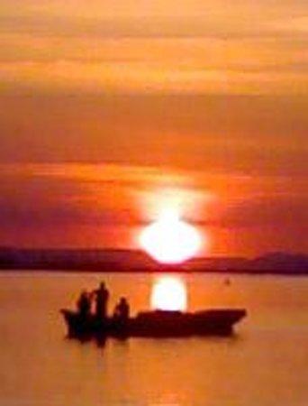 Balneario de Pedrinhas: Lindo pôr do sol