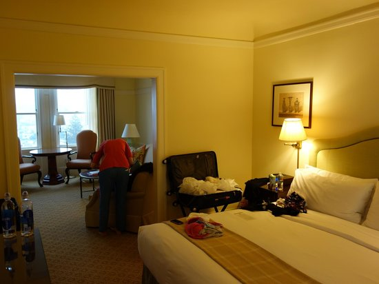 "Hotel Drisco: Two-room, ""city-view"" suite."