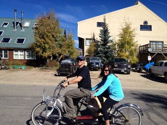 The Ruby of Crested Butte - A Luxury B&B: we loved the tandem bike