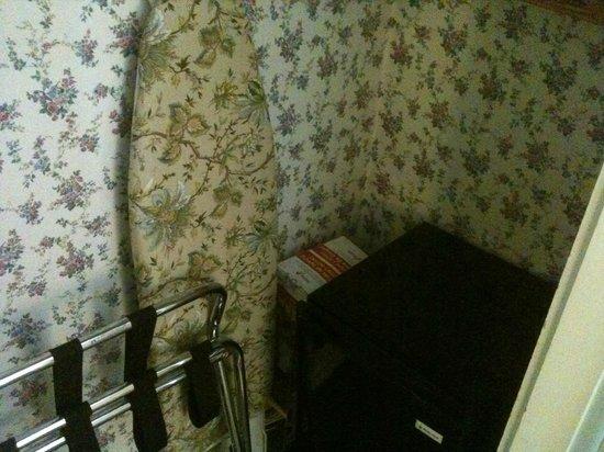 Snug Cottage: A tábua de passar. Até ela é florida.