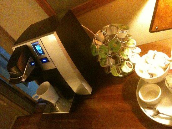 Snug Cottage: Máquina de café sempre a disposição