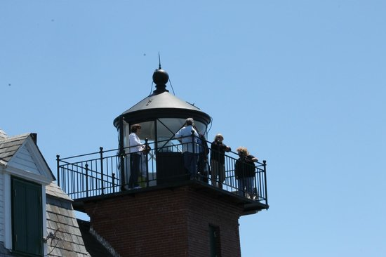 Rockland Breakwater Light: this is on the top, a great view