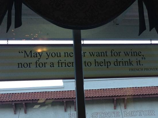 Grapes: Words of wisdom through the front window