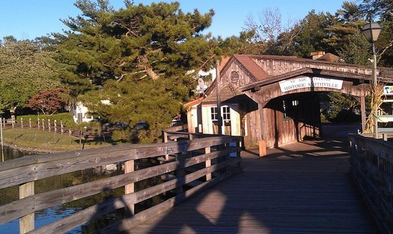 The Colonial Inn at Historic Smithville: Bridge across the pond