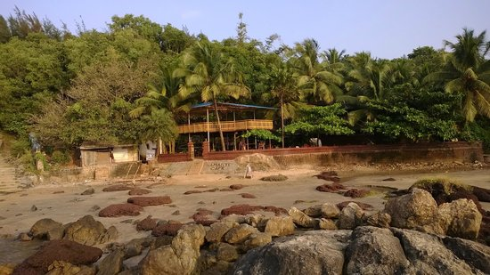 Namaste Cafe: the hotel from the beach