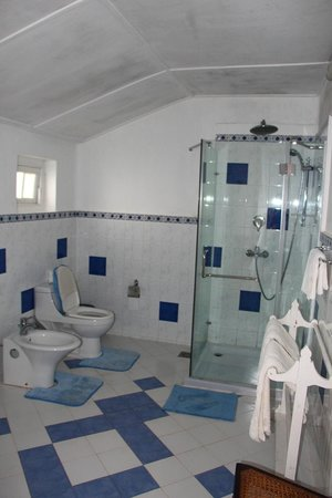 Kelburne Mountain View Cottages: The bathroom overlooking the amazing view
