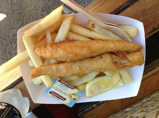Floriade: Fish & Chips for lunch