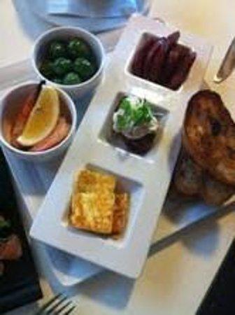 Seasons Bistro Bar & Deli: olives, corn fritters, chorizo