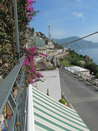 Locanda Costa d'Amalfi: View towards Amalfi from the balcony of a double room with a view