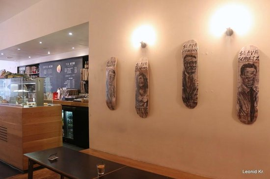 Bold Street Coffee: part of wall design