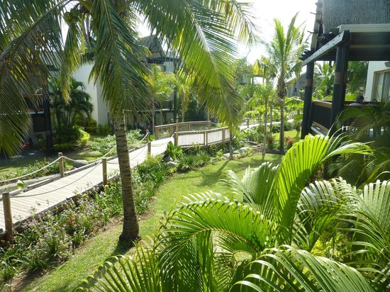 Wyndham Resort Denarau Island : main boardwalk from reception to pool