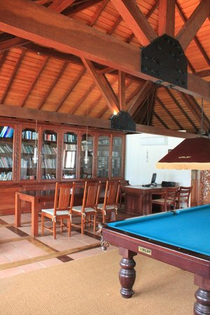 Saman Villas: Snooker table & Library Area